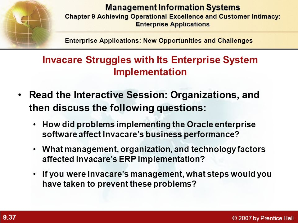 Invacare Struggles with Its Enterprise System Implementation