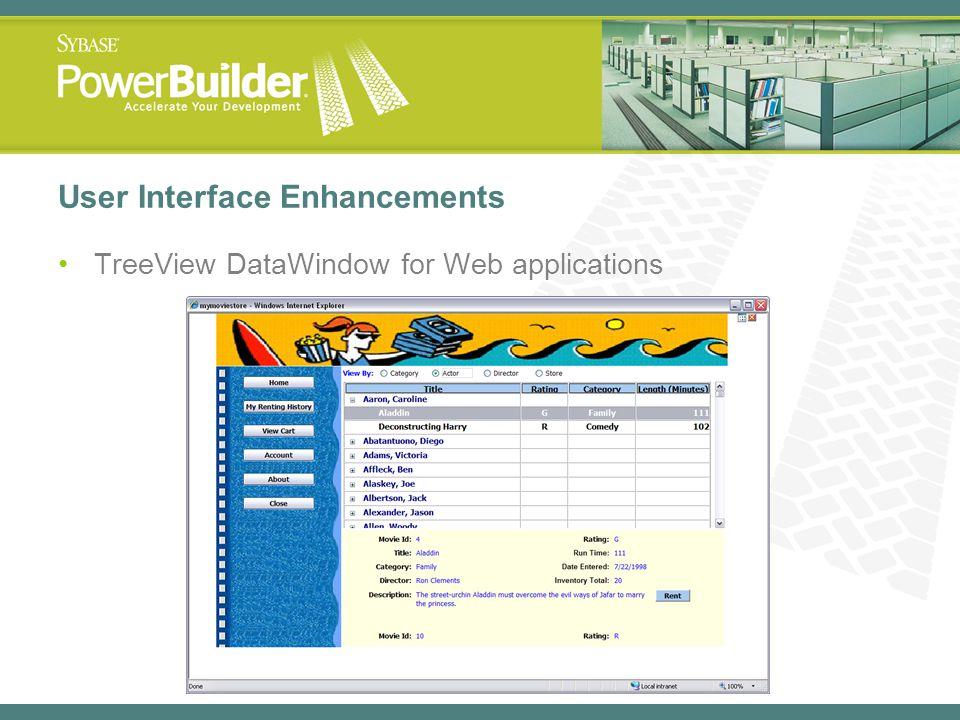 User Interface Enhancements