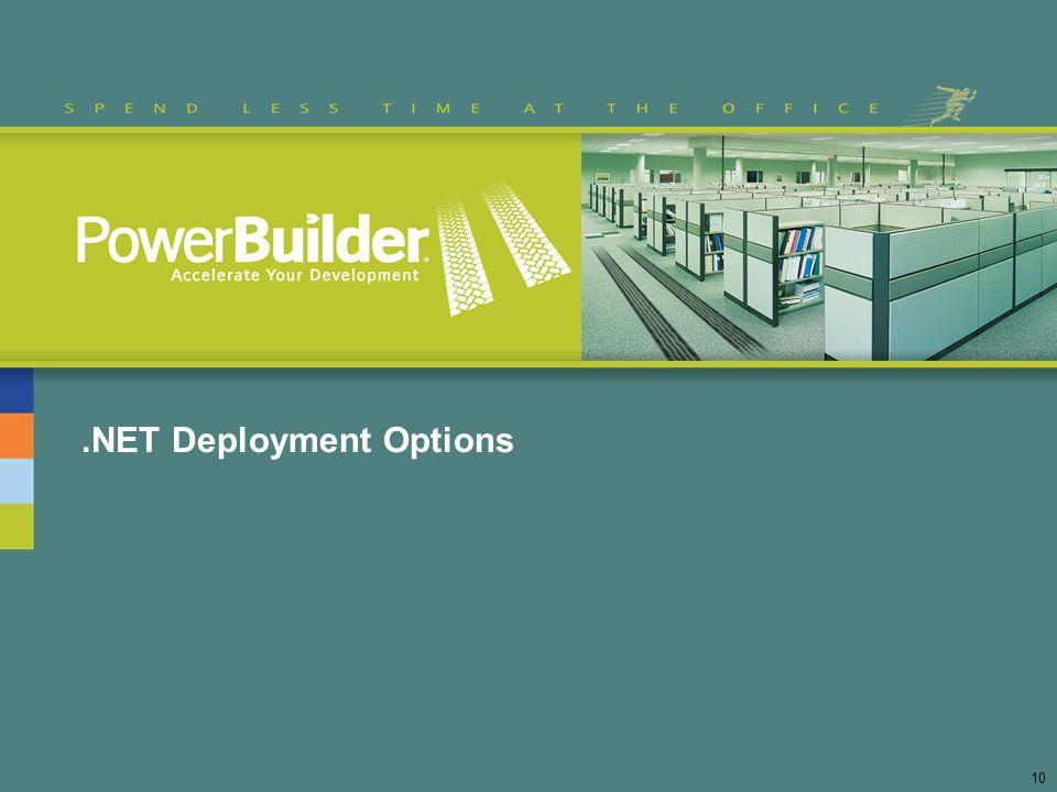 .NET Deployment Options