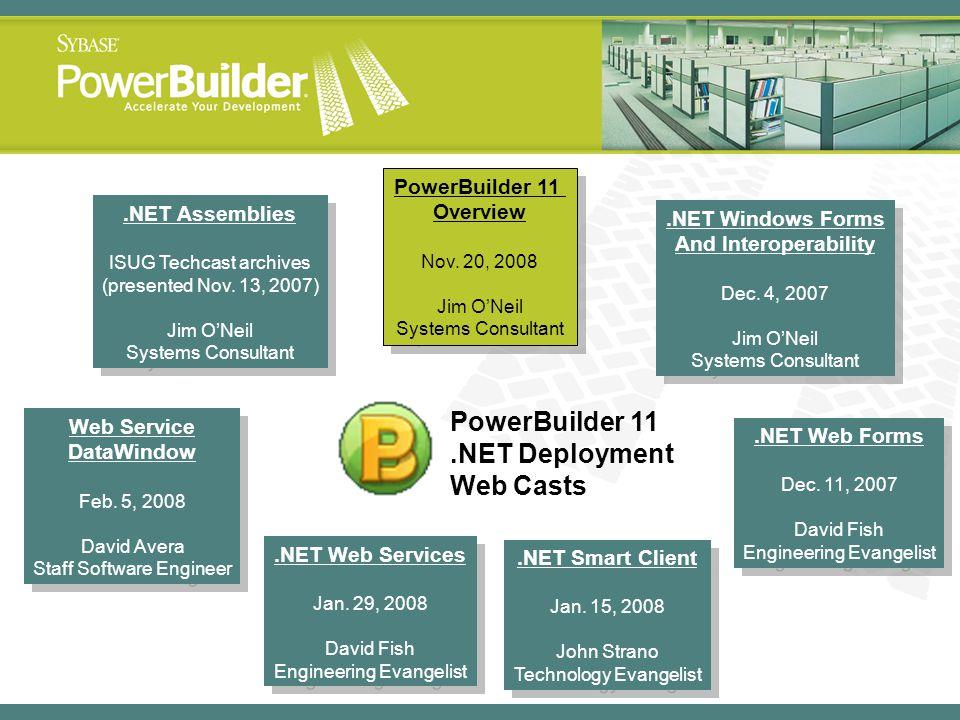 PowerBuilder 11 Overview Web Service DataWindow