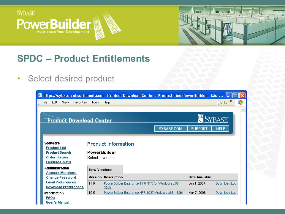 SPDC – Product Entitlements