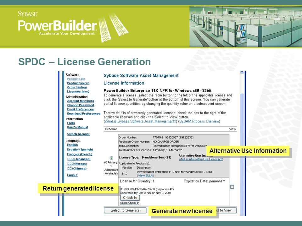 SPDC – License Generation