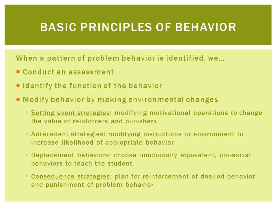 Basic principles of behavior