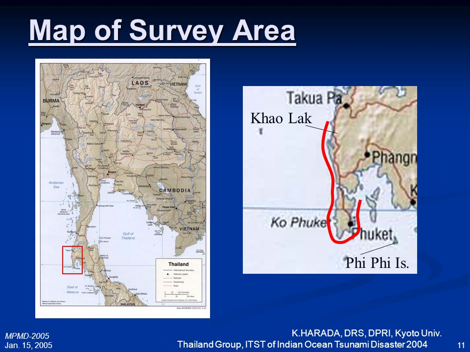 Map of Survey Area Khao Lak Phi Phi Is.