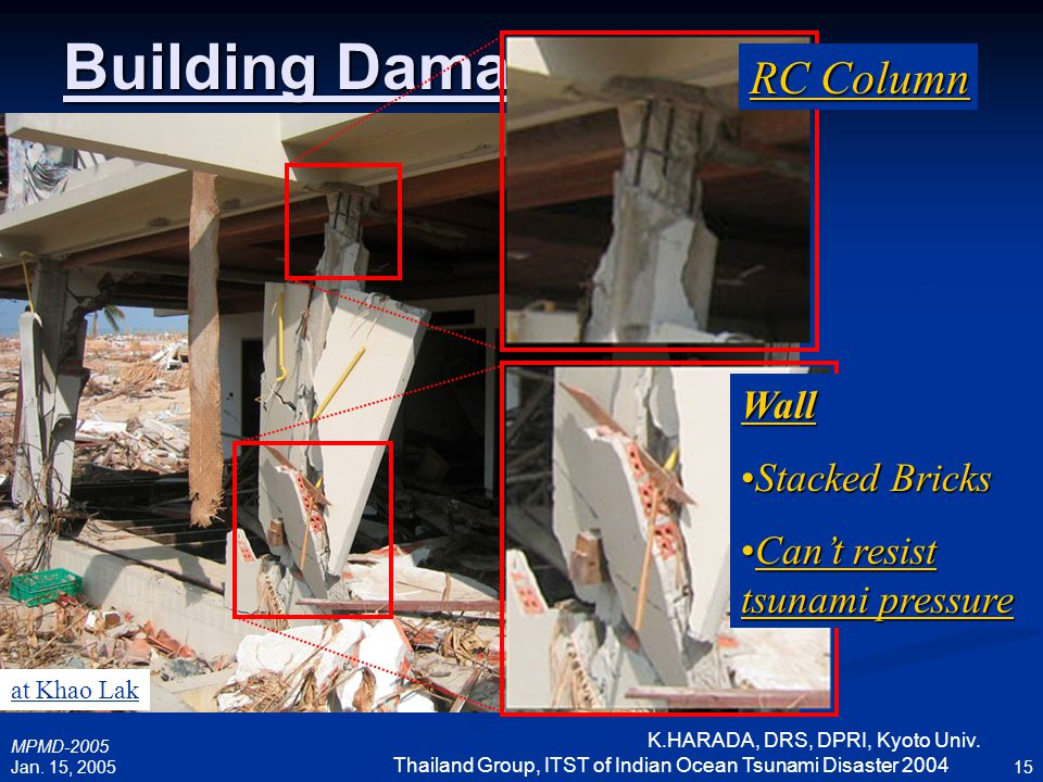 Building Damage RC Column Wall Stacked Bricks