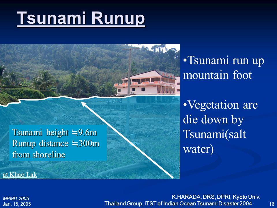 Tsunami Runup Tsunami run up mountain foot