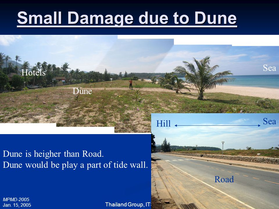 Small Damage due to Dune
