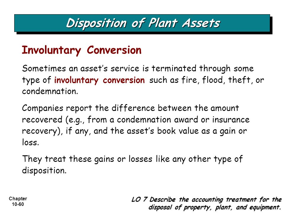 Disposition of Plant Assets