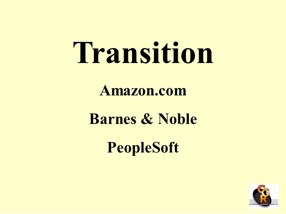 Transition Amazon.com Barnes & Noble PeopleSoft