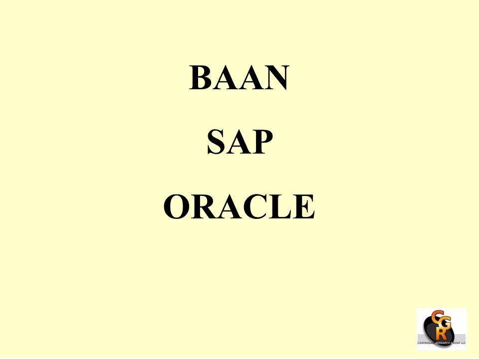 BAAN SAP ORACLE