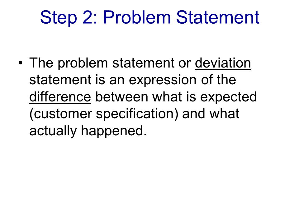 Step 2: Problem Statement