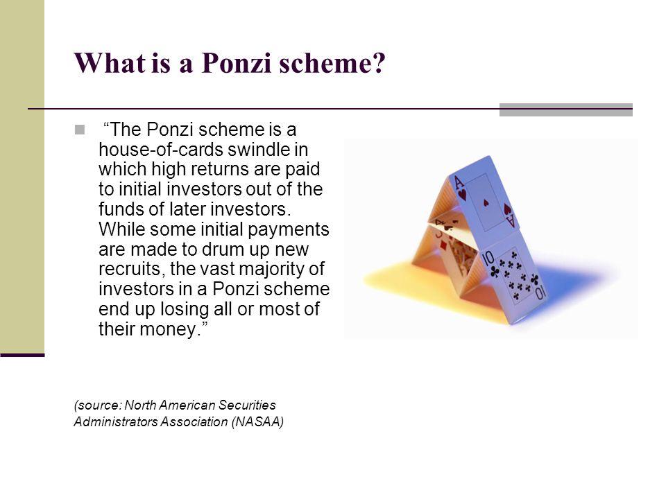 What is a Ponzi scheme