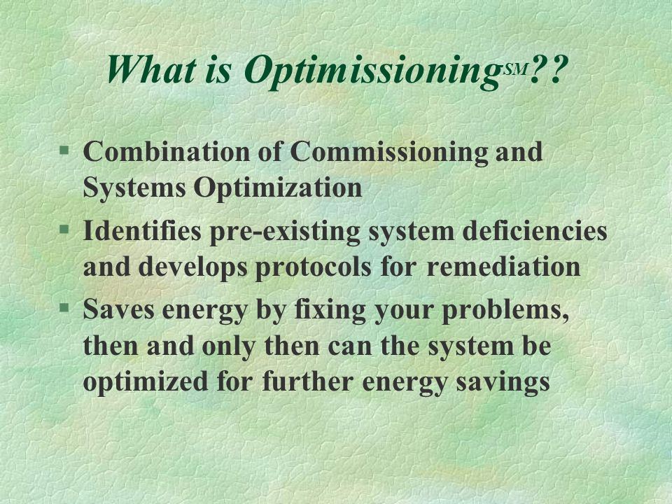 What is OptimissioningSM