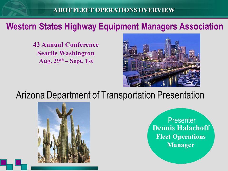Arizona Department of Transportation Presentation
