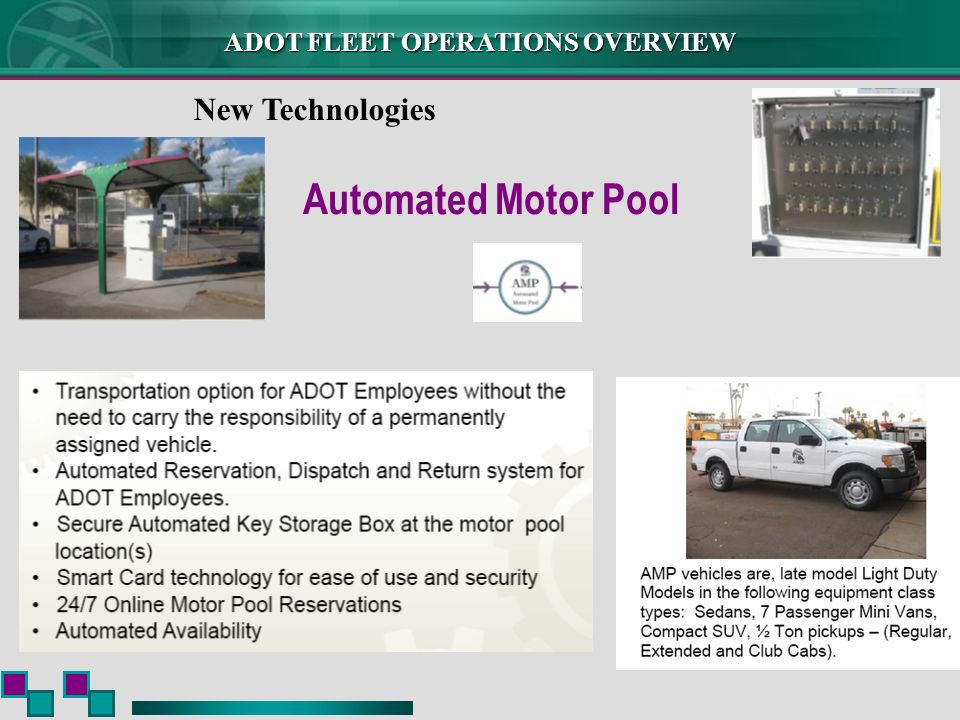 New Technologies Automated Motor Pool