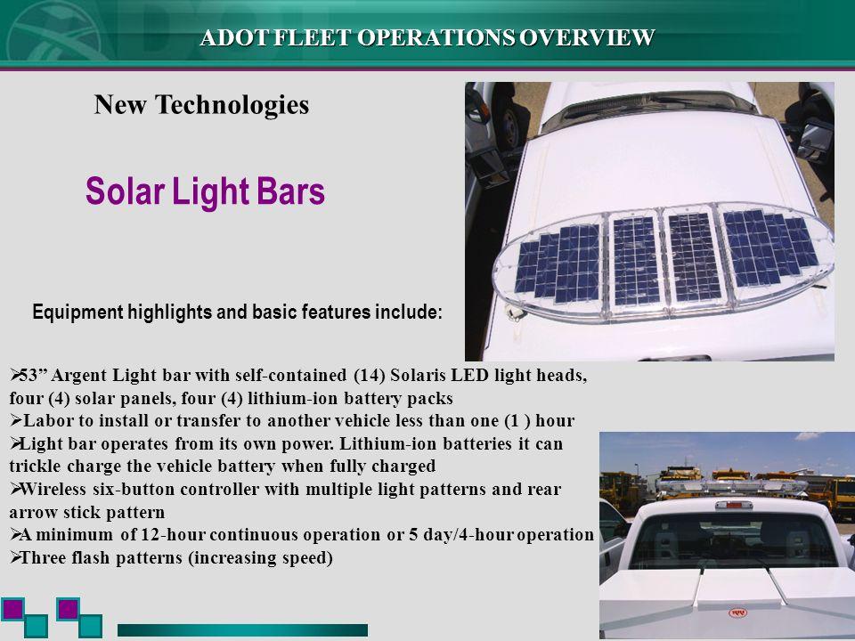 Solar Light Bars New Technologies