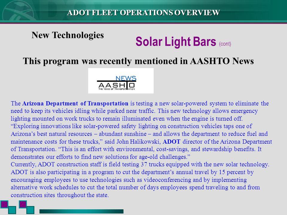 Solar Light Bars (cont)
