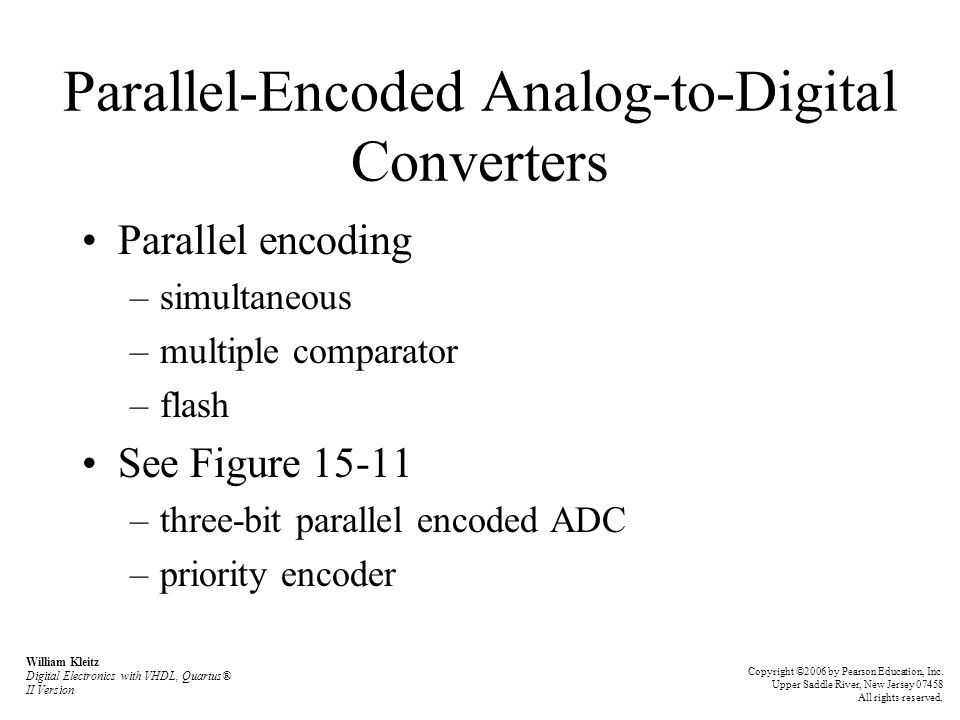 Parallel-Encoded Analog-to-Digital Converters