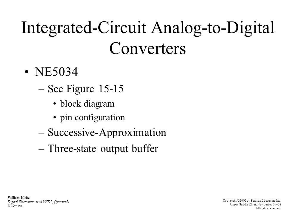 Integrated-Circuit Analog-to-Digital Converters