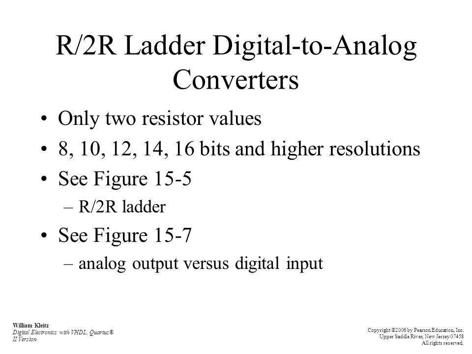 R/2R Ladder Digital-to-Analog Converters