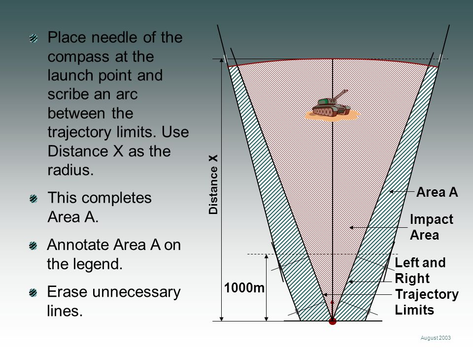 Annotate Area A on the legend.