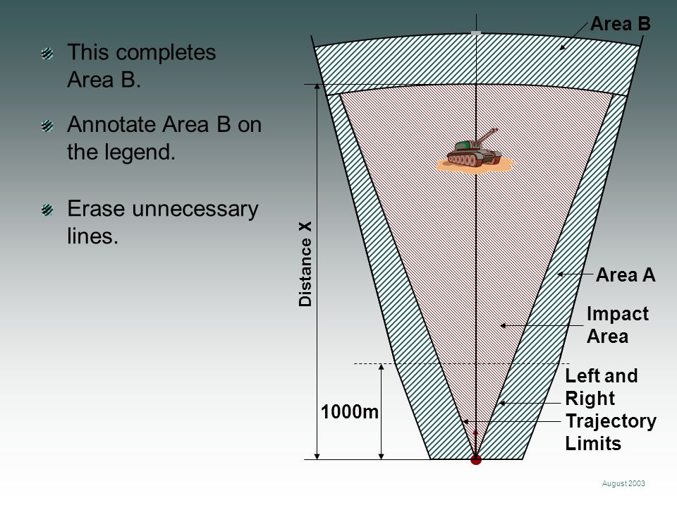 Annotate Area B on the legend.