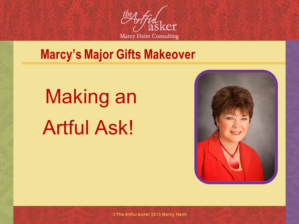 Marcy's Major Gifts Makeover