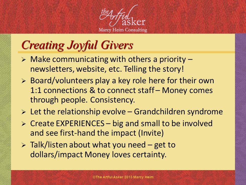 Creating Joyful Givers