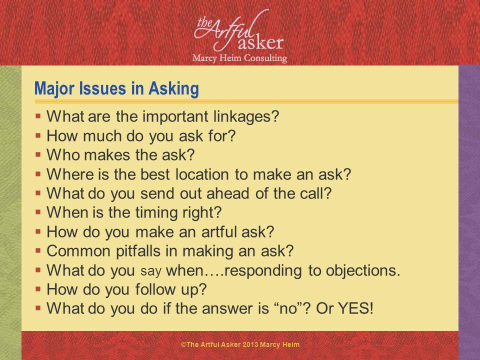 Major Issues in Asking What are the important linkages