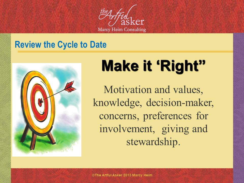 Review the Cycle to Date