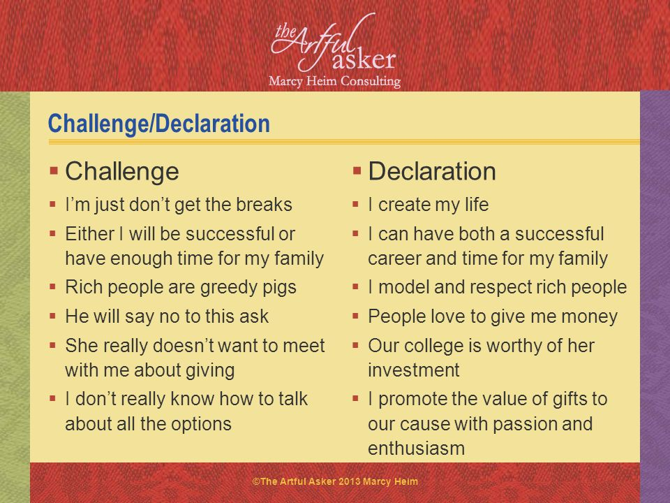 Challenge/Declaration