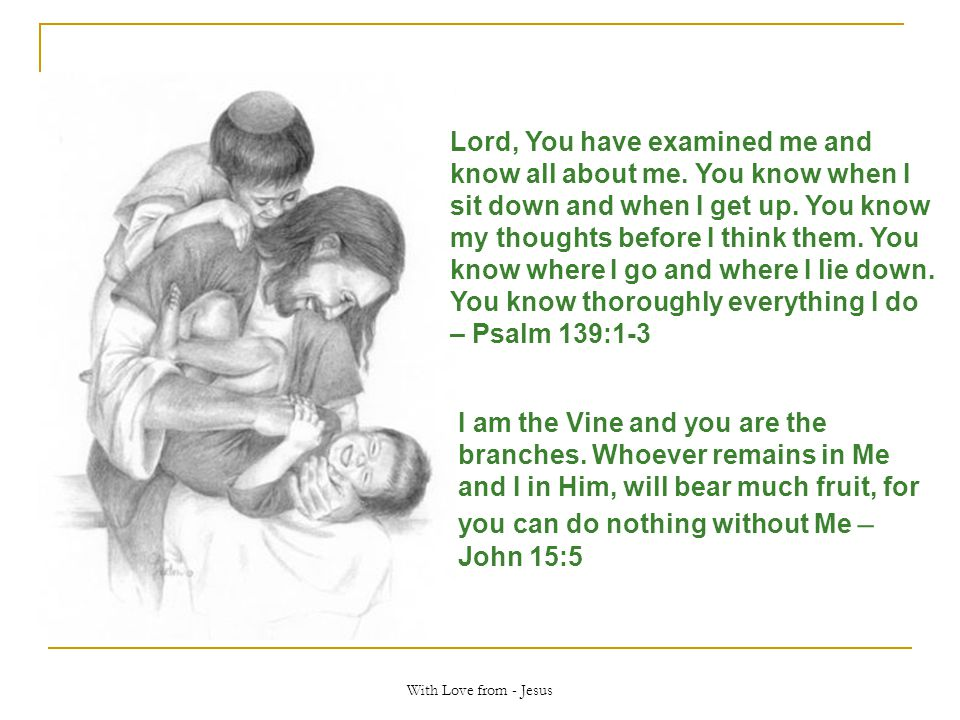 Lord, You have examined me and know all about me