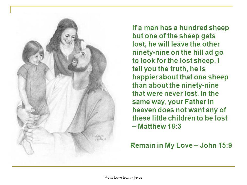 Remain in My Love – John 15:9