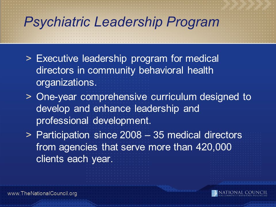 Psychiatric Leadership Program