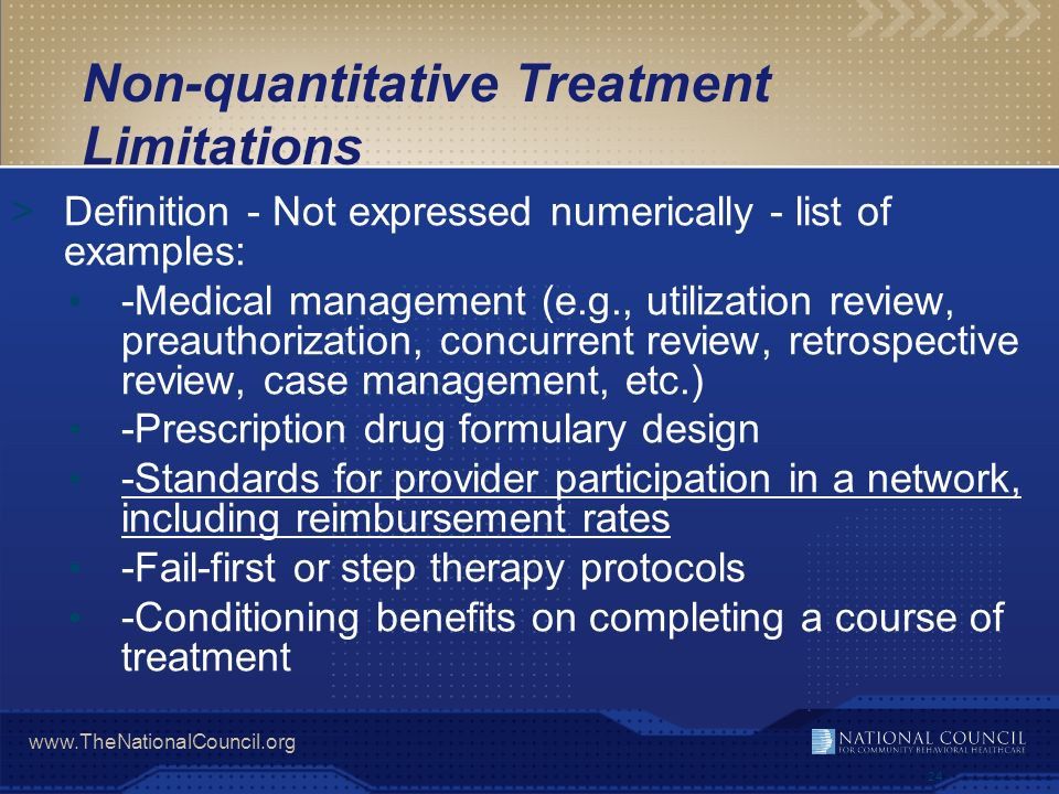 Non-quantitative Treatment Limitations