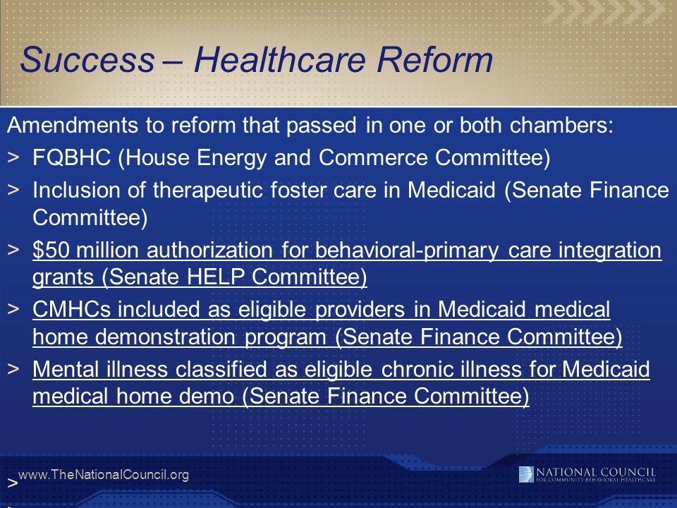 Success – Healthcare Reform