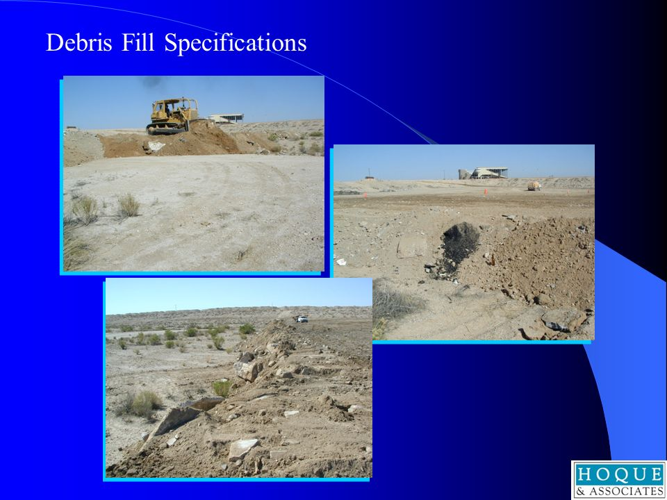 Debris Fill Specifications