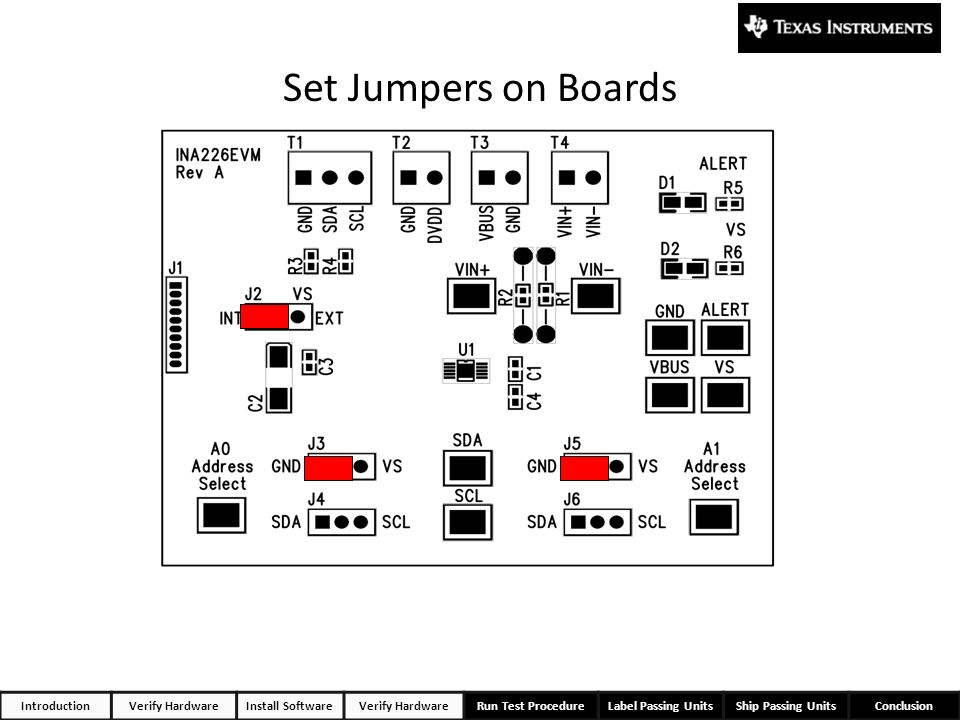 Set Jumpers on Boards 12 Introduction Verify Hardware Install Software