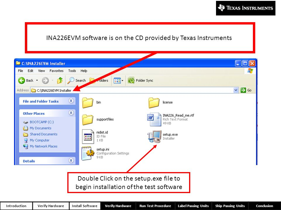 INA226EVM software is on the CD provided by Texas Instruments