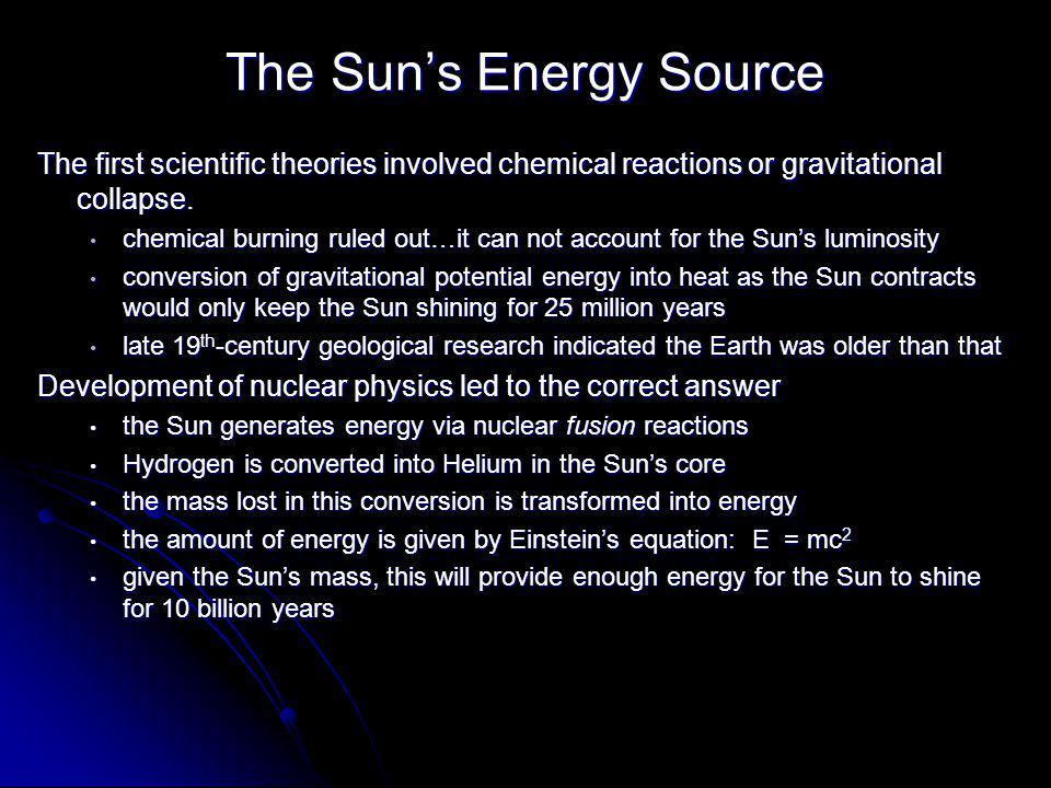 The Sun's Energy Source