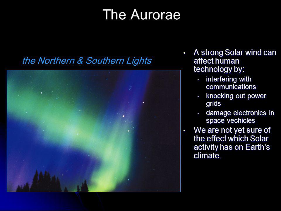 The Aurorae the Northern & Southern Lights