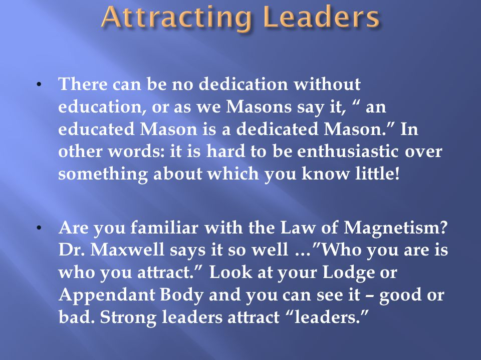 Attracting Leaders