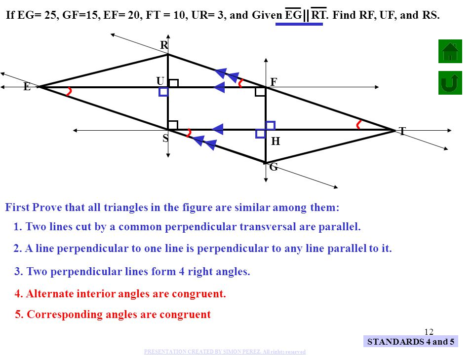 First Prove that all triangles in the figure are similar among them: