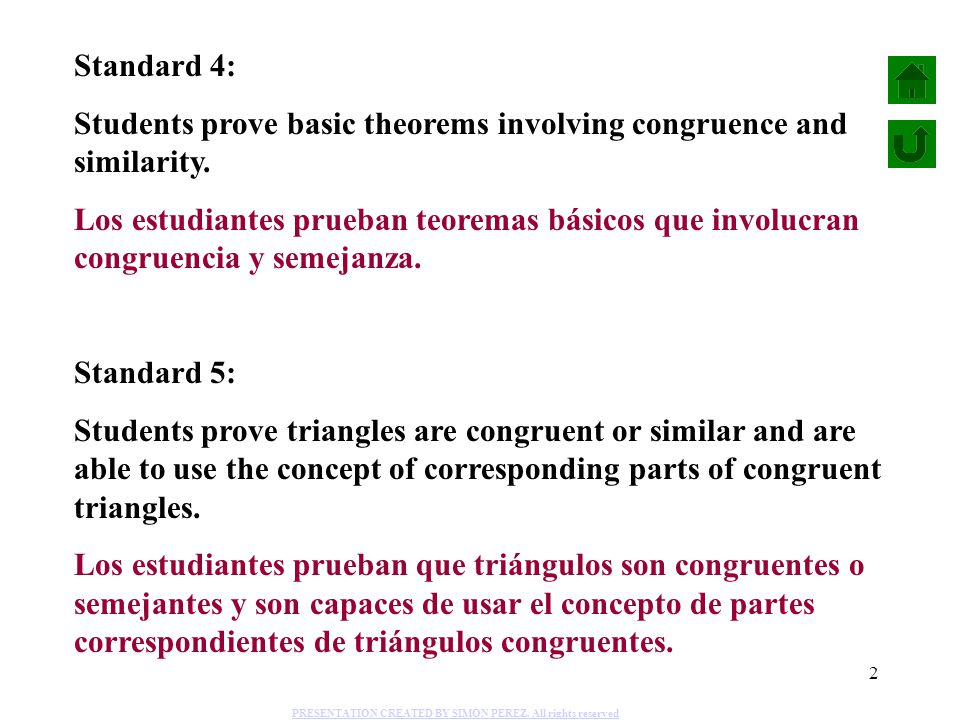 Students prove basic theorems involving congruence and similarity.