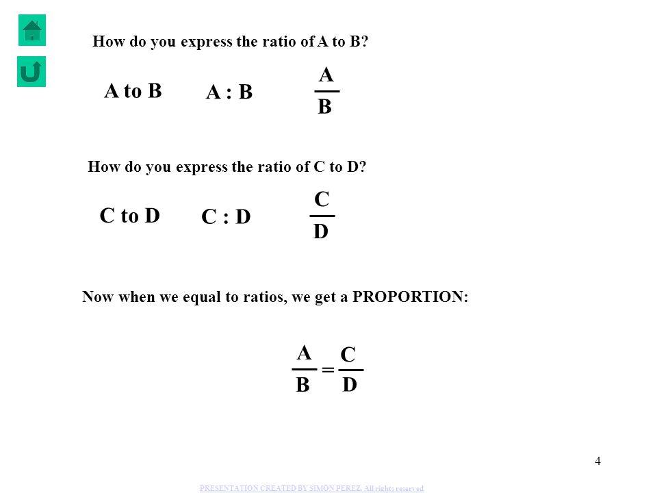 A A to B A : B B C C to D C : D D A C = B D
