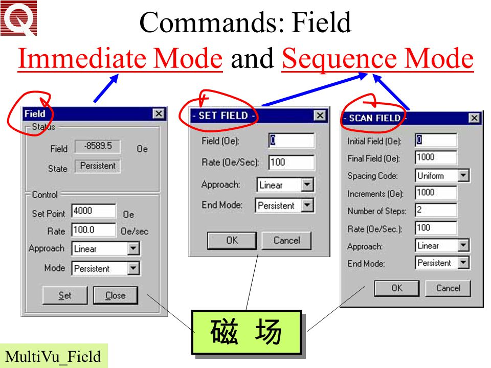 Commands: Field Immediate Mode and Sequence Mode