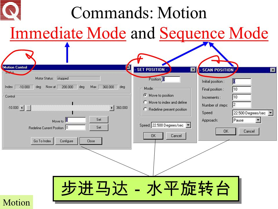 Commands: Motion Immediate Mode and Sequence Mode