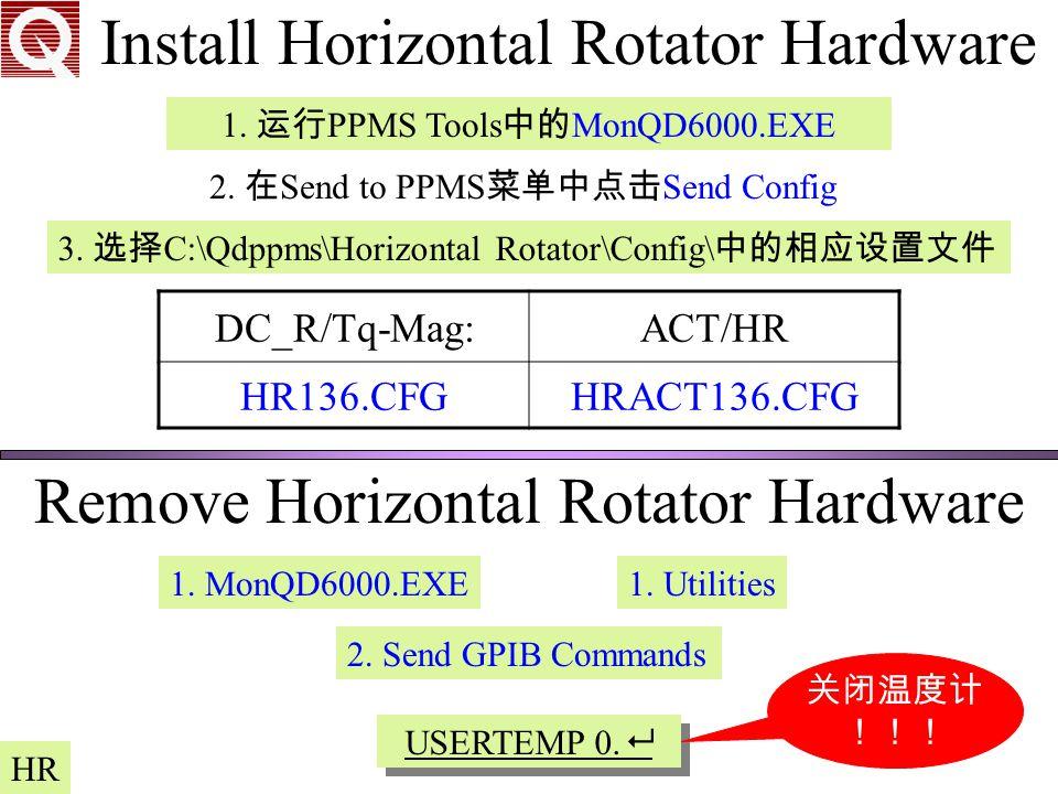 Install Horizontal Rotator Hardware