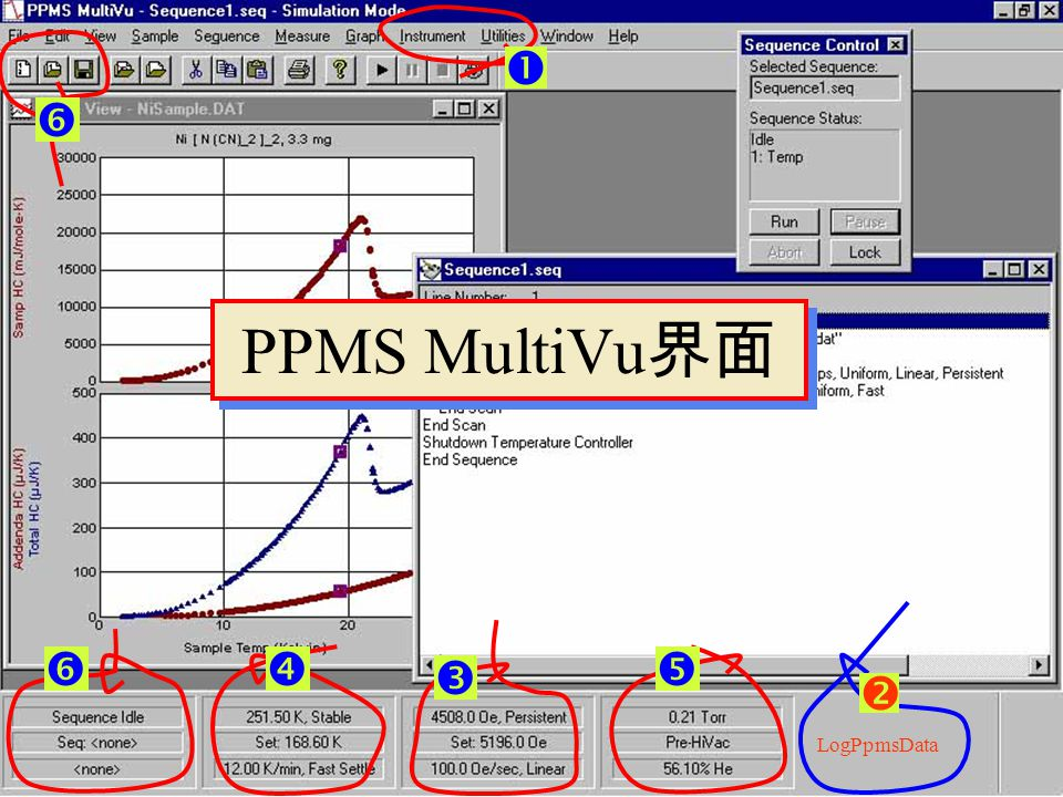   PPMS MultiVu界面     LogPpmsData