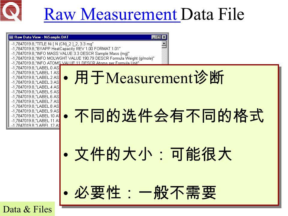 Raw Measurement Data File